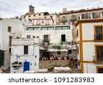 whitewashed houses in the old... | Shutterstock . vector #1091283983