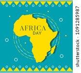 africa day illustration   Shutterstock .eps vector #1091285987
