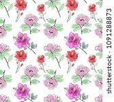 bouquet flower patterm in a... | Shutterstock . vector #1091288873