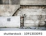 gritty wall sections with... | Shutterstock . vector #1091303093