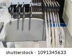 machine led light bulb.   Shutterstock . vector #1091345633