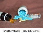 multicolored medicines... | Shutterstock . vector #1091377343