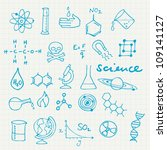 science icons doodles vector set | Shutterstock .eps vector #109141127