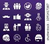 people icon set   filled... | Shutterstock .eps vector #1091417387