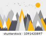 mountain landscape  mountain... | Shutterstock .eps vector #1091420897