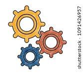 gears machinery working scribble | Shutterstock .eps vector #1091426957