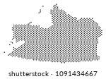 dotted kaliningrad region map....   Shutterstock .eps vector #1091434667