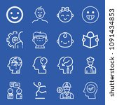 people related set of 16 icons... | Shutterstock .eps vector #1091434853