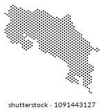 pixel costa rica map. vector... | Shutterstock .eps vector #1091443127