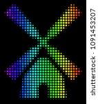 pixel impressive halftone wind... | Shutterstock .eps vector #1091453207