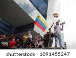 Small photo of Caracas/Venezuela-April 07, 2018: Opposition leaders against Nicolas Maduro dictatorship government speaking to people during a rally demonstration in Altamira square one of the meeting points