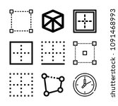 square related set of 9 icons... | Shutterstock .eps vector #1091468993