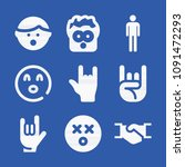 gestures related set of 9 icons ... | Shutterstock .eps vector #1091472293