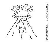 eruption volcano. vector...   Shutterstock .eps vector #1091478257