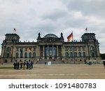 reichstag building in berlin   Shutterstock . vector #1091480783