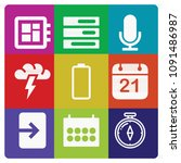 filled set of 9 interface icons ...   Shutterstock .eps vector #1091486987