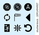 filled set of 9 direction icons ...   Shutterstock .eps vector #1091494907