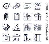set of 16 other outline icons... | Shutterstock .eps vector #1091501063