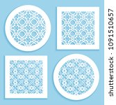 templates for laser cutting ...   Shutterstock .eps vector #1091510657