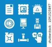 set of 9 other filled icons... | Shutterstock .eps vector #1091525897