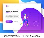 online landing page of music...