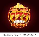 casino vector golden slots... | Shutterstock .eps vector #1091595557
