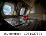 interior of a business class of ... | Shutterstock . vector #1091627873