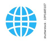 flat globe icon design. vector...   Shutterstock .eps vector #1091685107