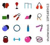 solid vector ixon set   barbell ... | Shutterstock .eps vector #1091685413