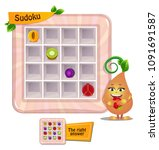 sudoku game for children with... | Shutterstock .eps vector #1091691587