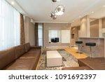 interior of a modern open plan...   Shutterstock . vector #1091692397