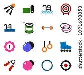 solid vector ixon set   target... | Shutterstock .eps vector #1091698853