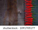 red chilli pepper is a dark...   Shutterstock . vector #1091705177