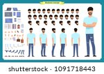 hipster creation kit. set of... | Shutterstock .eps vector #1091718443