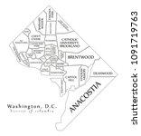 modern city map   washington dc ... | Shutterstock .eps vector #1091719763