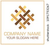 flat style vector logo parquet  ... | Shutterstock .eps vector #1091753267