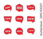 new tag icons  labels and... | Shutterstock .eps vector #1091763227