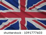 great britain flag printed on a ... | Shutterstock . vector #1091777603