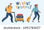 vector cartoon illustration of... | Shutterstock .eps vector #1091783657