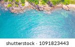 aerial view of the beach and... | Shutterstock . vector #1091823443