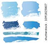 brush strokes stamps vector set ... | Shutterstock .eps vector #1091825807