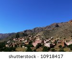 mountain houses in morocco | Shutterstock . vector #10918417
