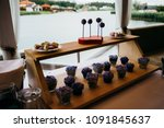 fruits and desserts on the... | Shutterstock . vector #1091845637