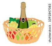 vector illustration wicker... | Shutterstock .eps vector #1091847083