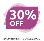 30 percent discount sticker... | Shutterstock .eps vector #1091898977