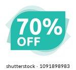70 percent discount sticker... | Shutterstock .eps vector #1091898983