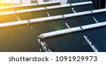 solar water heater on roof | Shutterstock . vector #1091929973