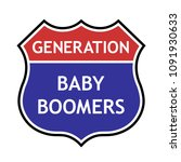 baby boomers generation ... | Shutterstock .eps vector #1091930633
