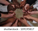 a bunch of different hands in a ... | Shutterstock . vector #109195817