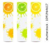 banners with juicy citrus... | Shutterstock .eps vector #1091964617